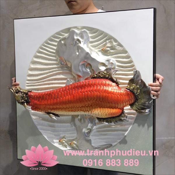 Tranh phù điêu cá rồng