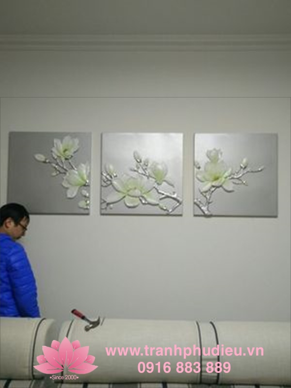 Tranh nổi 3D Hoa mộc lan