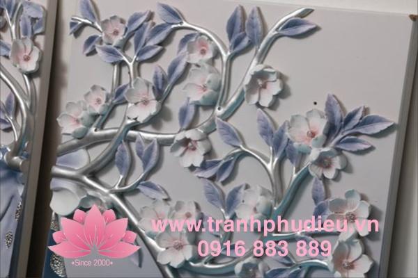 Tranh phù điêu 3D Tuần lộc hoa