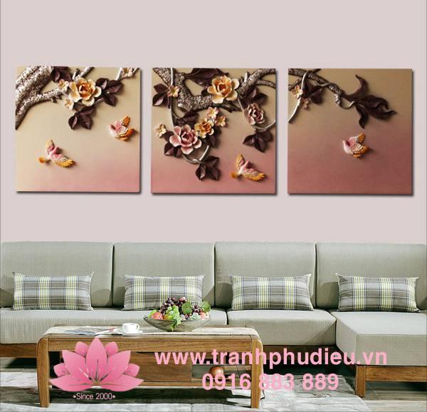 Tranh phù điêu composite bức tranh mùa xuân