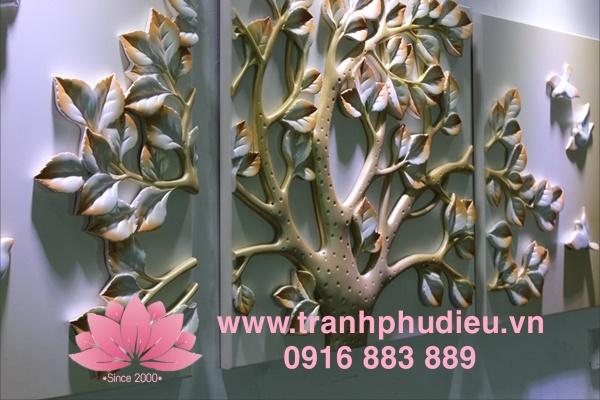 Tranh phù điêu composite cây sinh lộc