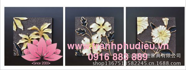tranh phù điêu 3d hoa diên vĩ