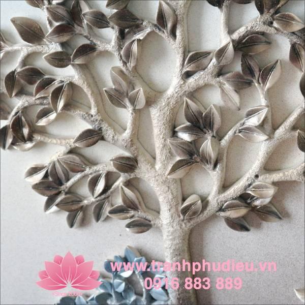 tranh phù điêu composite hươu nai
