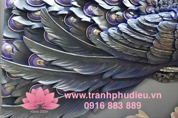 Tranh phù điêu composite tphcm chim công