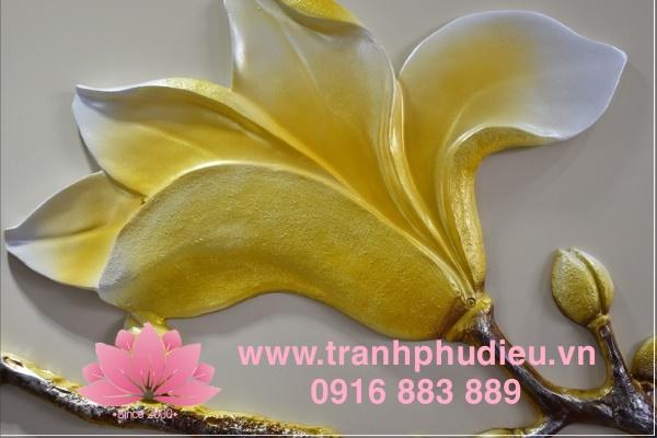 Tranh nổi 3D hoa mai
