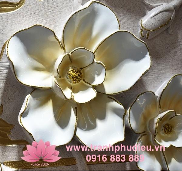 Tranh phù điêu 3D hoa mai