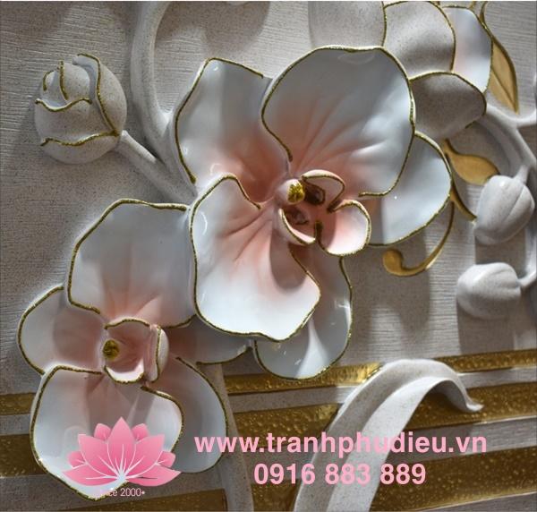 Tranh phù điêu composite hoa mai