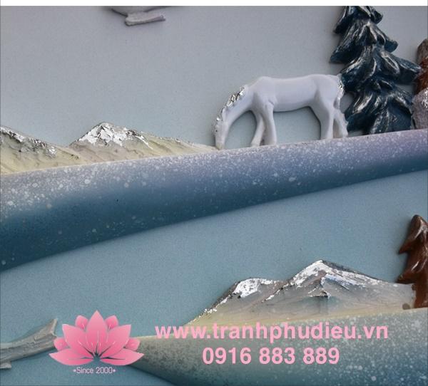 Tranh phù điêu composite phong cảnh