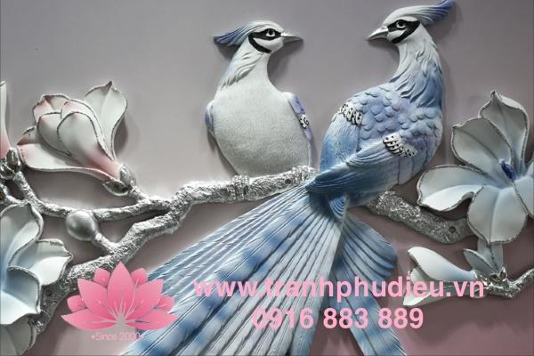 Tranh phù điêu 3d chim khuyên