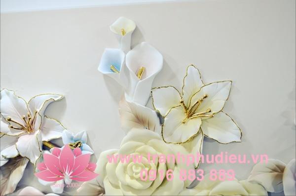 tranh phù điêu 3d hoa hồng