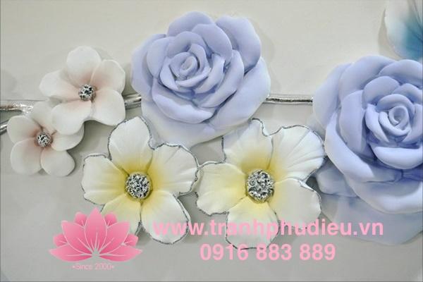 tranh phù điêu composite hoa hồng