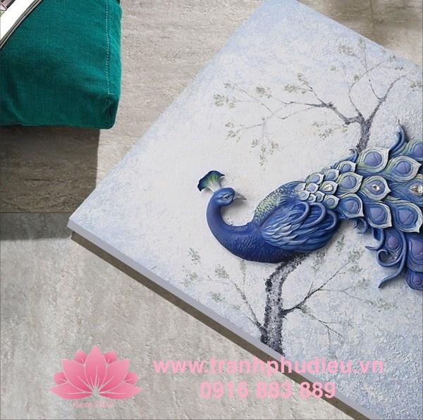 Tranh chim công 3D tại Đà Nẵng