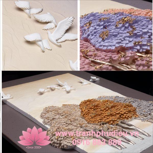 Tranh nhựa nổi 3D cây sinh lộc