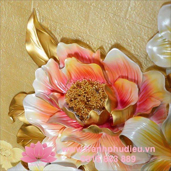 Tranh phù điêu 3D hoa ly