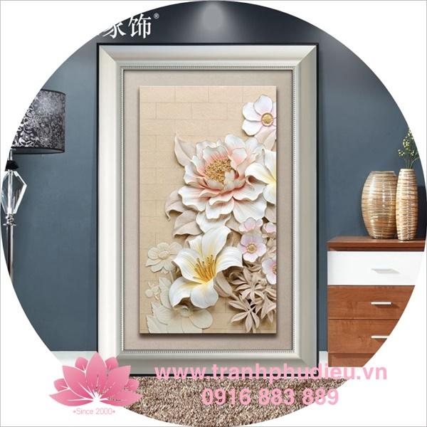 Tranh phù điêu composite hoa ly