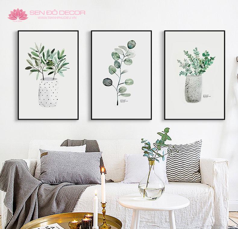 Cách thức lựa chọn tranh treo tường trang trí cho phòng khách đẹp