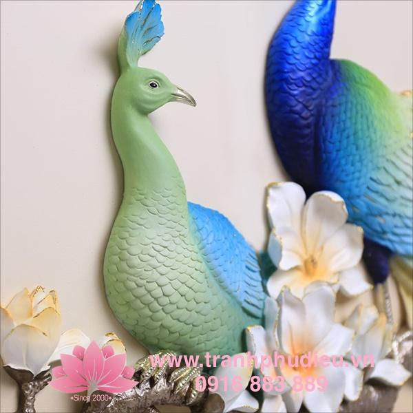 Tranh nổi 3D chim công