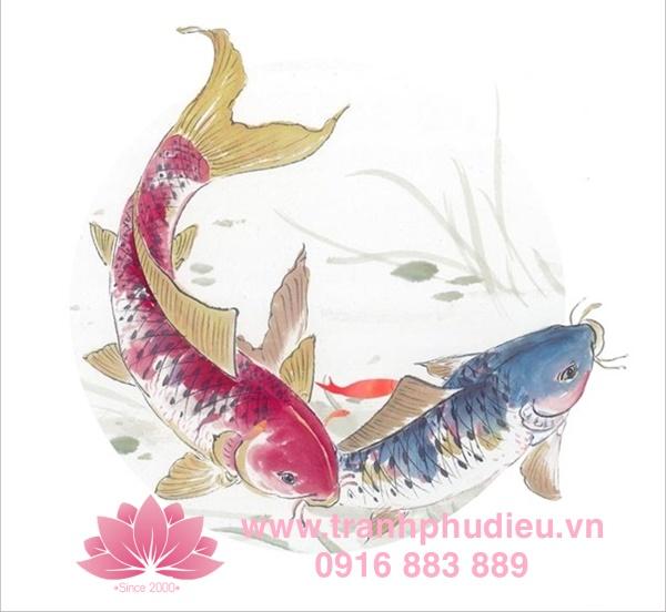 Tranh phù điêu cá chép vượt vũ môn
