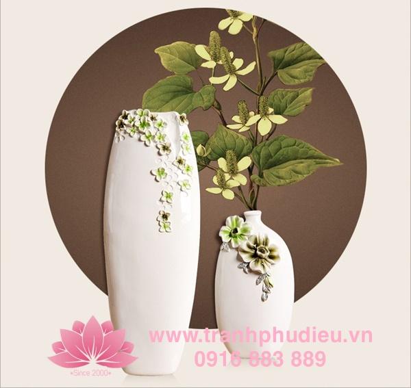 Tranh phù điêu thủy tinh Hoa mai trắng