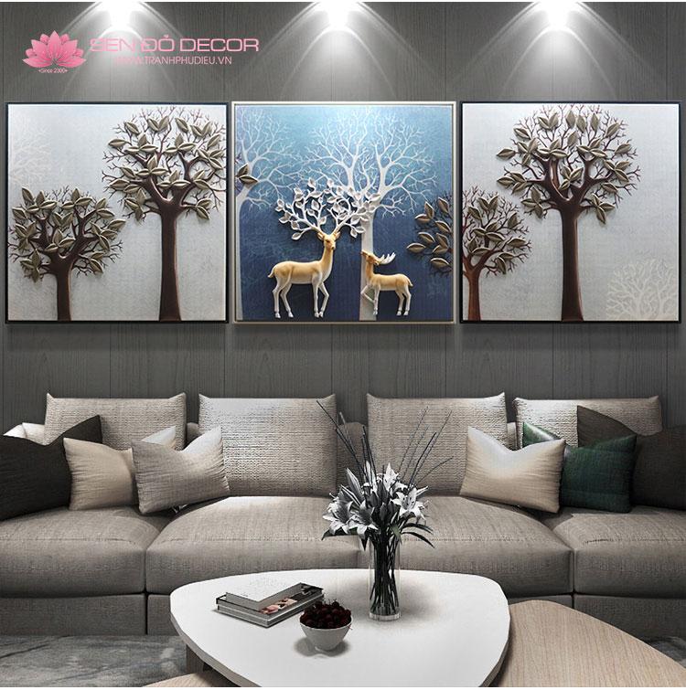 Tổng hợp các mẫu tranh phù điêu hoa lá trang trí nội ngoại thất
