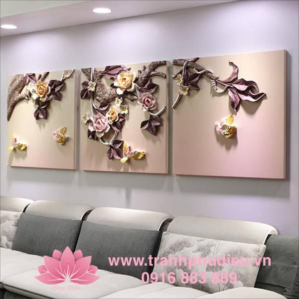 Địa chỉ bán Tranh hoa nổi 3d Uy Tín Hà Nội
