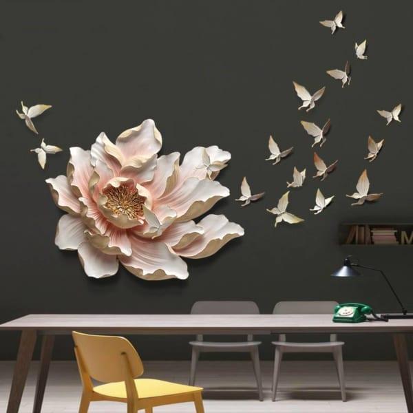 Đồ decor treo tường hoa mẫu đơn