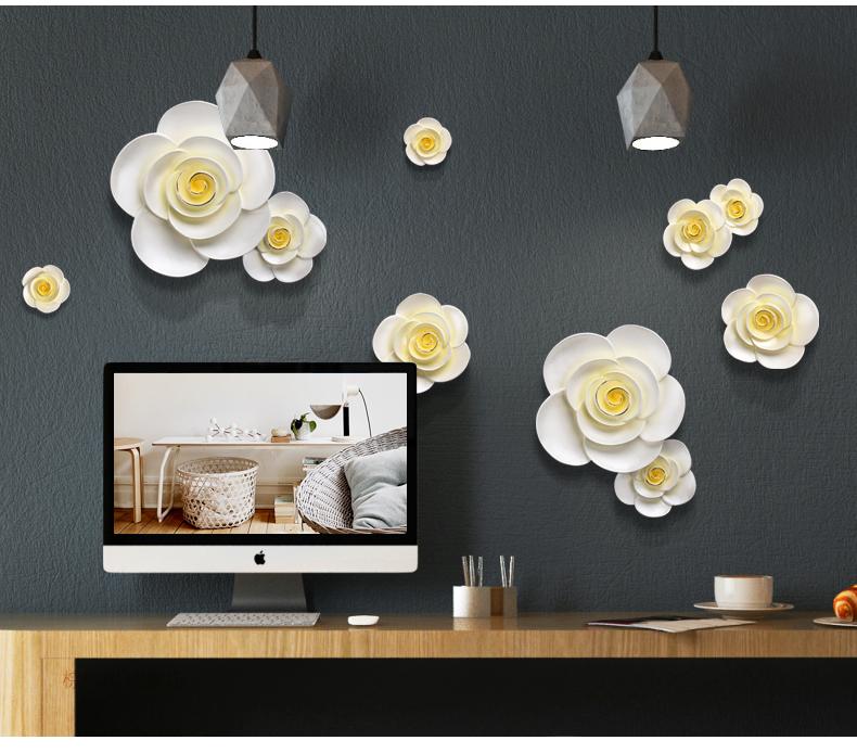 Decor phòng khách đẹp Hoa mai trắng