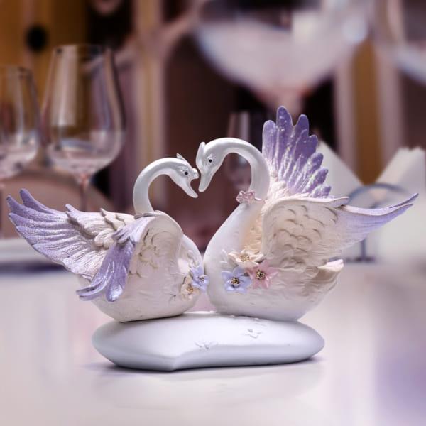 Đồ decor trang trí Đôi chim thiên nga