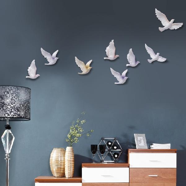 Decor trang trí tường đẹp Chim bồ câu
