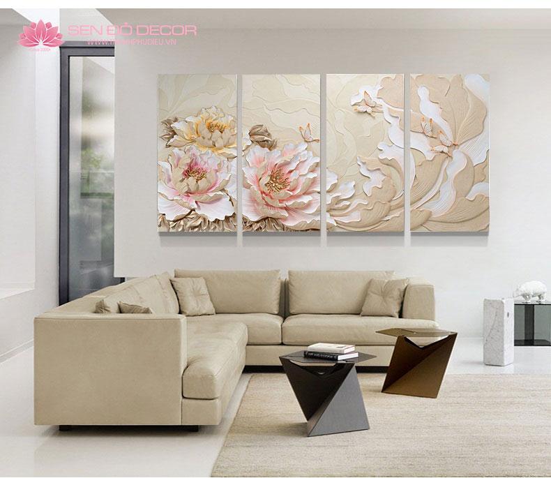 9 lưu ý khi treo tranh trang trí phòng khách để tránh chặn hết vận may