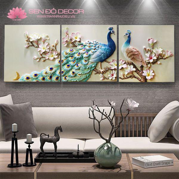 Mẫu tranh treo tường khổ lớn phòng khách đẹp giá rẻ 2019