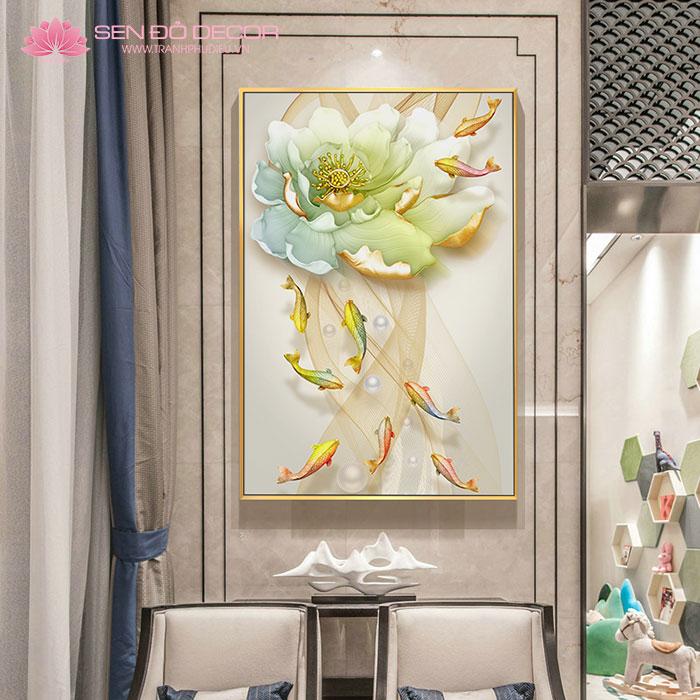 350 Mẫu Tranh Hoa Sen đẹp nhất treo phòng khách tại Hà Nội