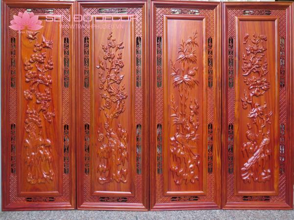 Hướng dẫn cách treo tranh gỗ tứ quý trong nhà của bạn